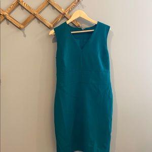Green Ann Taylor Sleeveless sheath dress